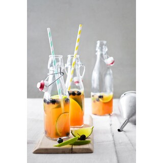 Bormioli Rocco Swing Large Glass Serving Bottle - Set of 12 or 6