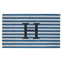"""Handmade Fab Habitat Monogram """"H"""" Doormat (India)"""