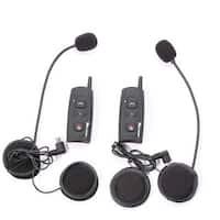 V2-1200 Outdoor Full Duplex Motorcycle Helmet Dual-Ear Wireless Bluetooth Intercom Dual Pack
