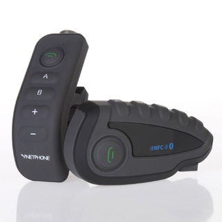 V8 1200m Five-Way Full Duplex Motorcycle Helmet Wireless Bluetooth Intercom with NFC Remote Control FM Radio