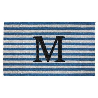 """Handmade Fab Habitat Monogram """"M"""" Doormat (India)"""