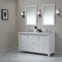 OVE Decors Positano White Wood 60-inch Bathroom Vanity