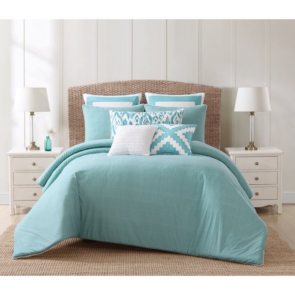 Oceanfront Resort Beach House Brights 3-Piece Cotton Duvet Set