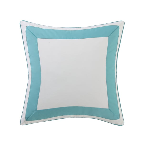 Oceanfront Resort Beach House Brights Cotton Border European Sham