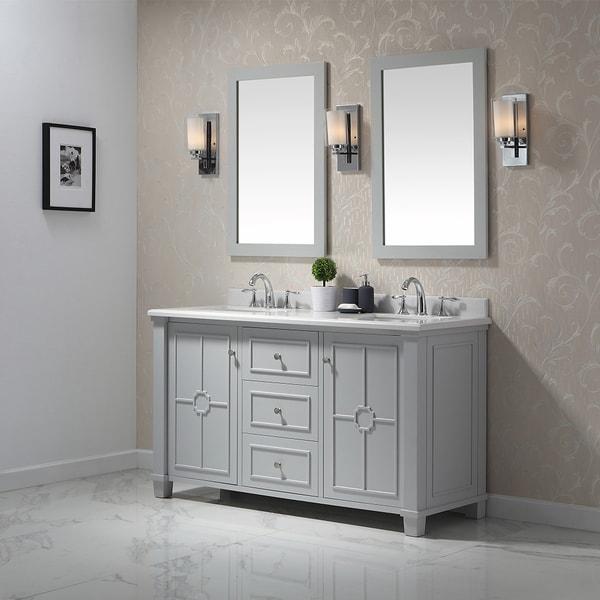 Ove Decors Positano Dove Grey 60 Inch Bathroom Vanity