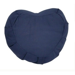 Zafu Blue Cotton Crescent Meditation Cushion