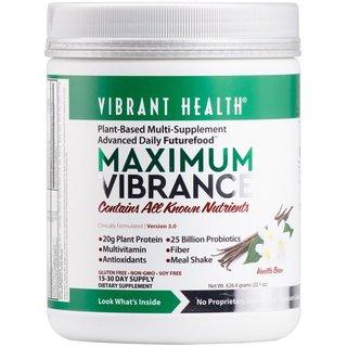 Vibrant Health Maximum Vibrance Vanilla Supplement Powder (15 Servings)
