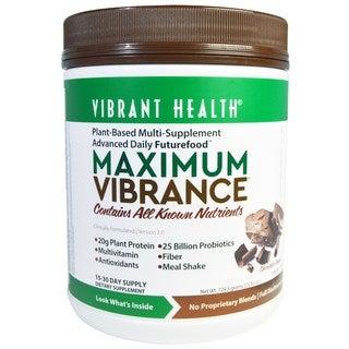 Vibrant Health Maximum Vibrance Chocolate Supplement Powder (15 Servings)