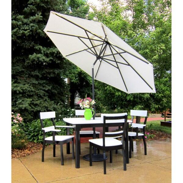 9 Foot Tilt and Crank Octagon O'Bravia Umbrella - Dining Height