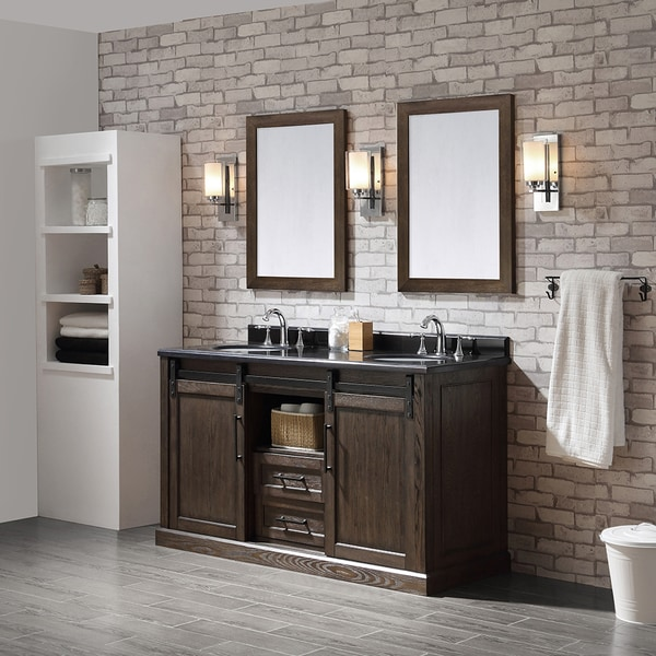 Shop Ove Decors Santa Fe Rustic Walnut 60 Inch Bathroom