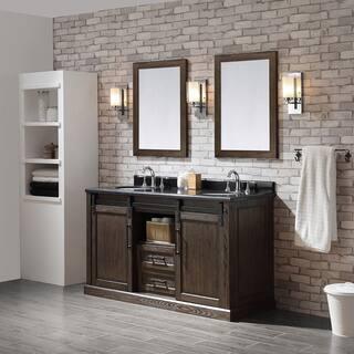 Ove Decors Santa Fe Rustic Walnut 60 Inch Bathroom Vanity