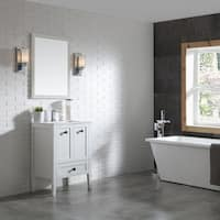 OVE Decors Andora 24 in. Bathroom Vanity in Matte White