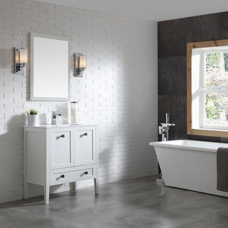 OVE Decors Andora 32 in. Bathroom Vanity in Matte White