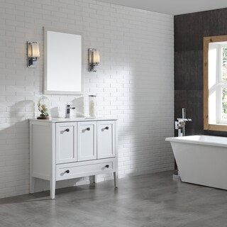 OVE Decors Andora 40 in. Bathroom Vanity in Matte White