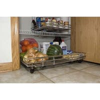 Expandable Kitchen Cabinet Pull Out Shelf - 22D x 12