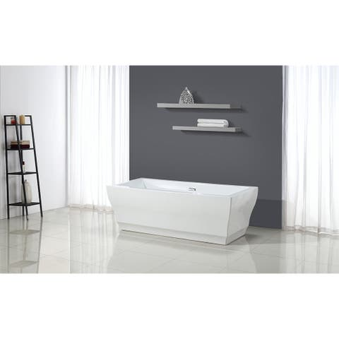 OVE Decors Vita White Acrylic 69-inch Seamless Freestanding Bathtub