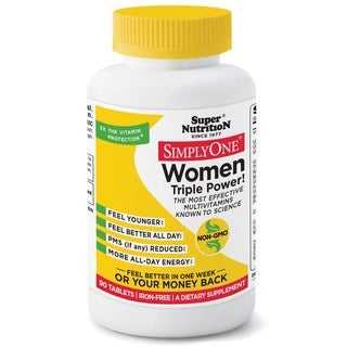 Super Nutrition Simply One Women Multivitamin Iron-Free (90 Tablets)