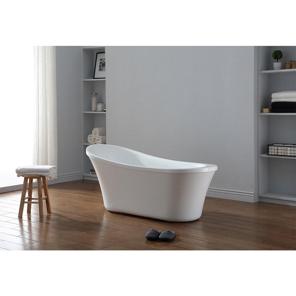OVE Decors Ruby Acrylic 65 Inch Freestanding Bathtub