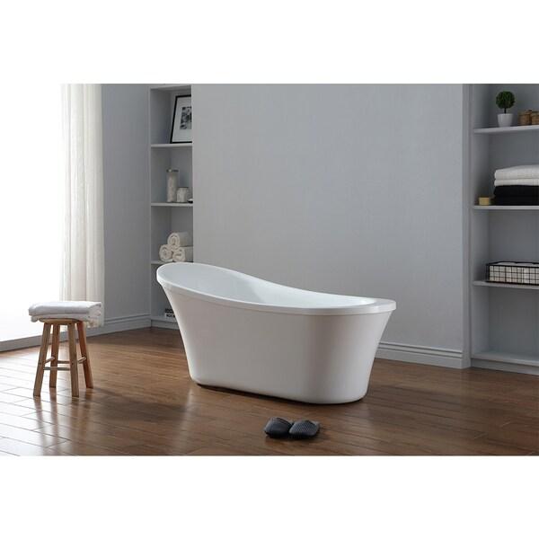 Merveilleux OVE Decors Ruby Acrylic 65 Inch Freestanding Bathtub