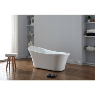 OVE Decors Ruby Acrylic 65-inch Freestanding Bathtub