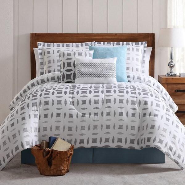 Ombre Geo Printed 7 Piece Comforter Set