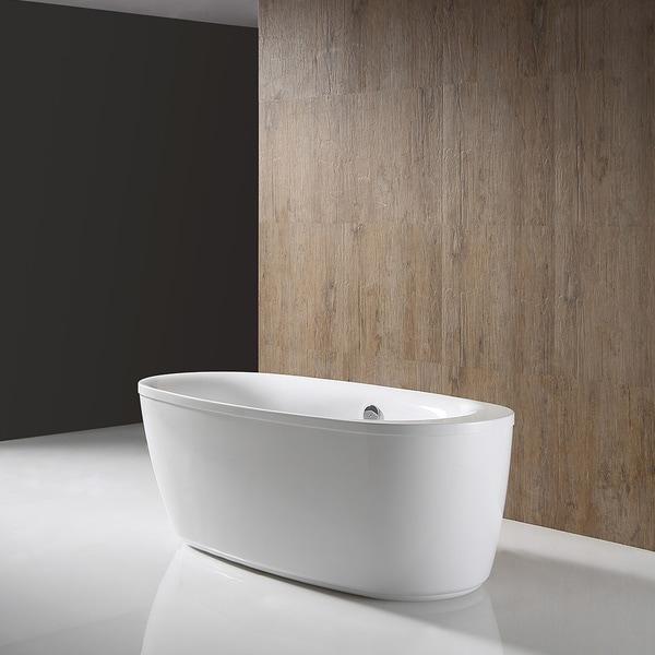 OVE Decors Leni Acrylic 66 Inch Freestanding Bathtub