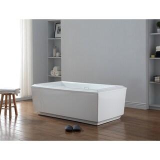 OVE Decors Prague Acrylic 65-inch Freestanding Bathtub