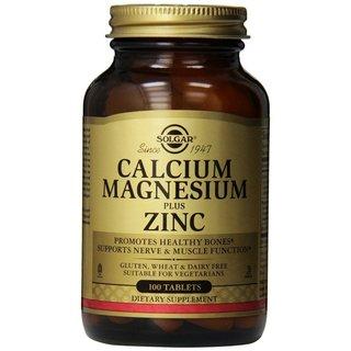 Solgar Calcium Magnesium Plus Zinc (100 Tablets)
