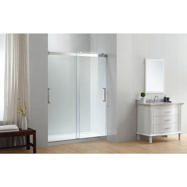 Shop Ove Decors Beacon Double Sliding Frosted Glass Shower Door Set