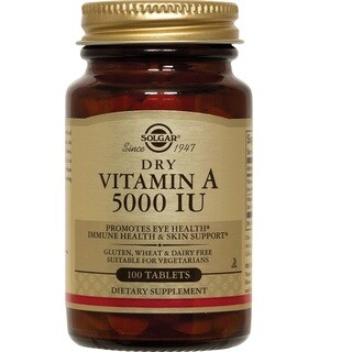 Solgar Dry Vitamin A 5000 Iu (100 Tablets)