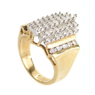 10K Yellow Gold and Diamond Ring PSAG44-082412