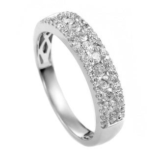Women's 14K White Gold Diamond Bridal Band Ring ALR-9862W
