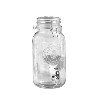 Caribbean Joe Clear Embossed Beverage Dispenser