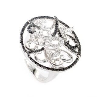 18K White Gold Multi Diamond Butterfly Ring