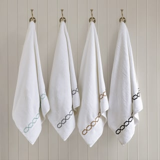 Madison Park Signature Copula Solid 6-Piece Cotton Towel Set with Embroidery