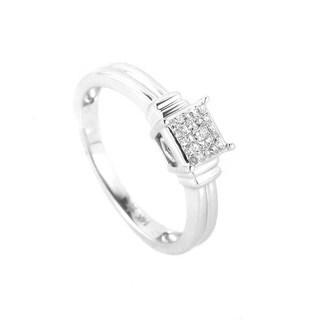 Dainty 14K White Gold Diamond Promise Ring LD4-02385