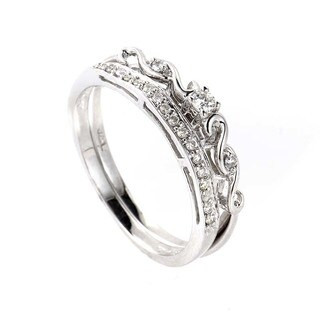 14K White Gold Diamond Bridal Set BR1275W