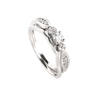 14K White Gold Diamond Bridal Set BR1033W