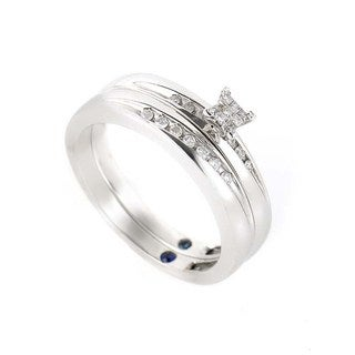 10K White Gold & Diamond Bridal Set