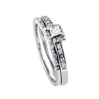 14K White Gold Diamond Bridal Set BR1032W