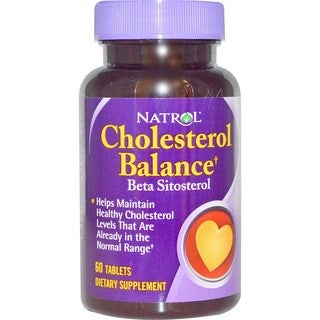 Natrol Cholesterol Balance Beta Sitosterol 60 mg (60 Tablets)