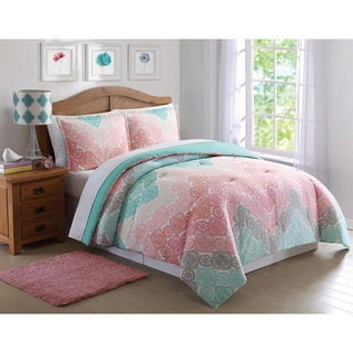 Laura Hart Kids Antique Chevron Printed 3-piece Comforter Set