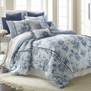 Amrapur Overseas 8-piece Floral Farmhouse comforter set
