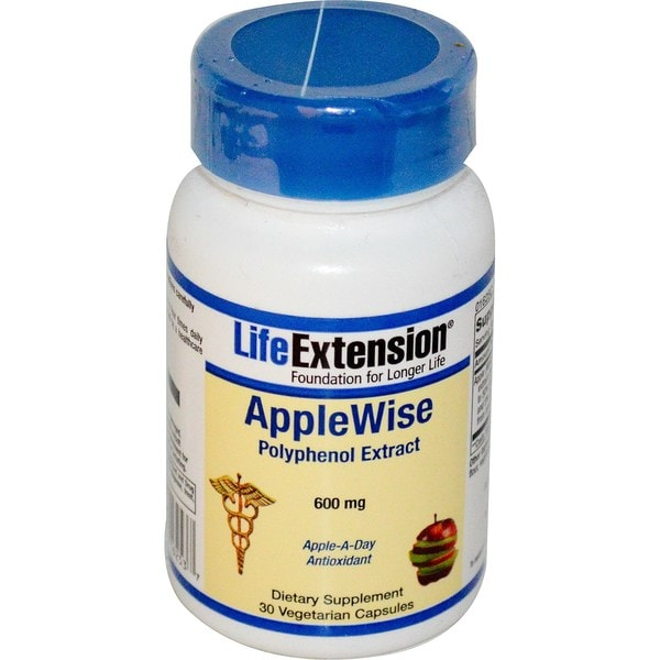 Life Extension Apple Wise Polyphenol Extract 600 mg (30 Capsules)