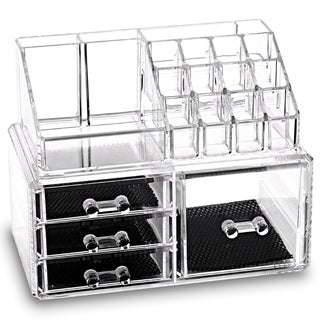 Link to Acrylic Jewelry & Makeup 2-piece Storage Set - Clear Similar Items in Makeup Brushes & Cases