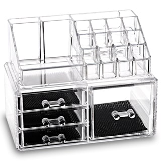 Ikee Design Acrylic Jewelry & Makeup 2-piece Storage Set