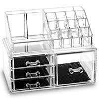 Ikee Design Acrylic Jewelry & Makeup 2-piece Storage Set