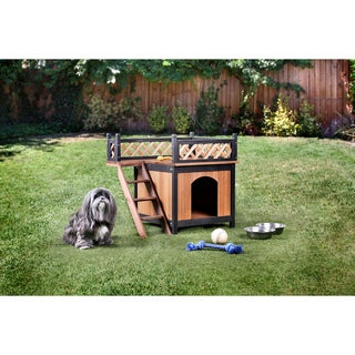 Furniture of America Vuza Rustic Brown Solid Wood Pet House
