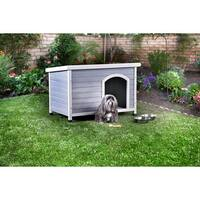 Furniture of America Calon Contemporary House Inspired Plank Style Grey/White Pet House