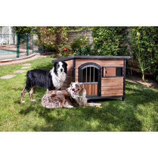 Furniture of America Jellon Rustic House Inspired Brown/Black Pet House with Door